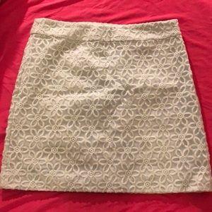 Ann Taylor Loft Mint Flower Lace Skirt